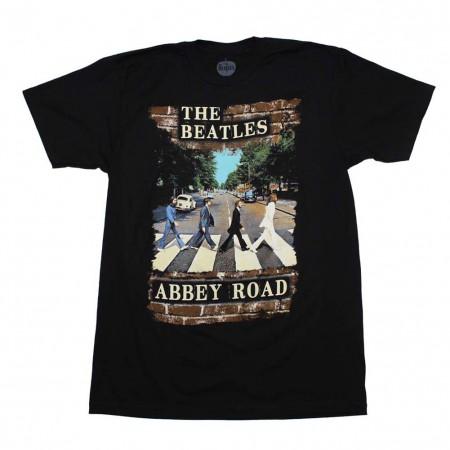 Beatles Abbey Brick Photo T-Shirt
