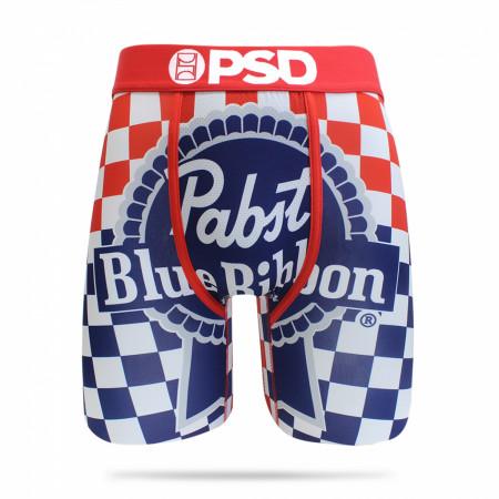 Pabst Blue Ribbon Checkered Men's PSD Boxer Briefs