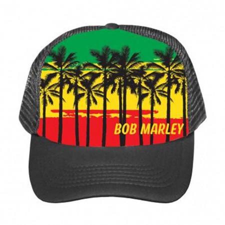 Bob Marley Palms Trucker Hat