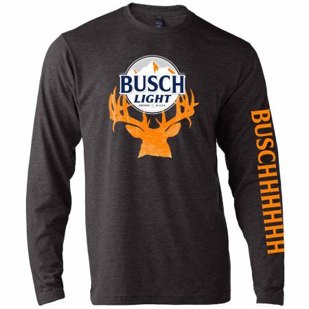Busch Light Beer Deer Hunter Logo Long Sleeve Shirt