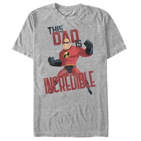 Disney Pixar The Incredibles This Dad Gray T-Shirt