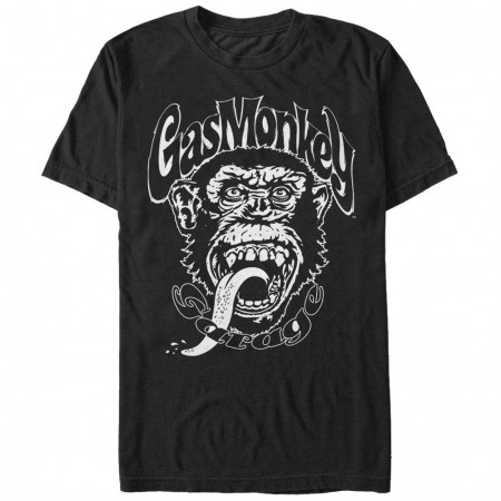 Gas Monkey Garage Monkee Black T-Shirt