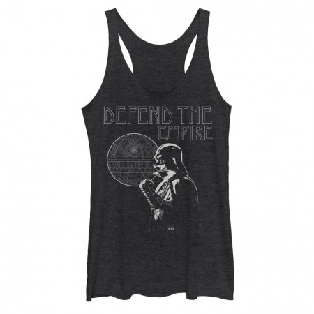 Star Wars Rogue One Defend Empire Black Juniors Racerback Tank Top