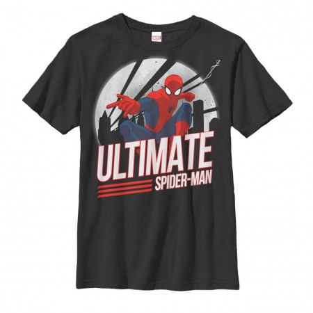 Spiderman Spidey Action Black Youth T-Shirt