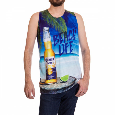 Corona Beach Life Sublimated Tank Top