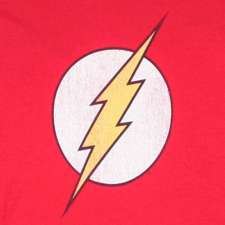 The Flash Logo Red Juniors Graphic Tee Shirt