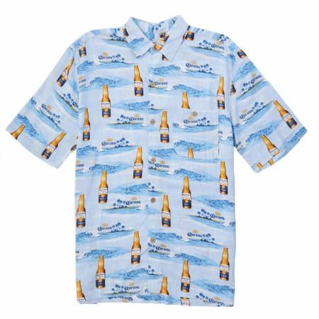 Newport Blue Corona Extra Find Your Beach Men's Button Down Shirt