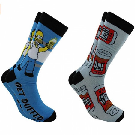 The Simpsons 2 Pack Crew Socks