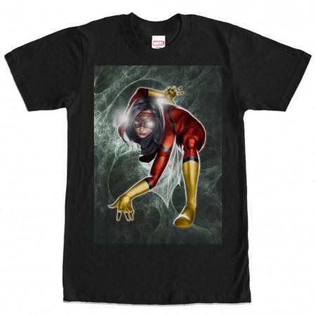 Spiderman Spider Woman Black Mens T-Shirt