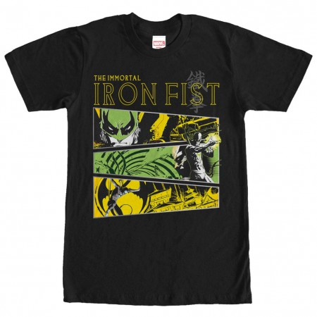 Marvel Teams Iron Tri Black Mens T-Shirt