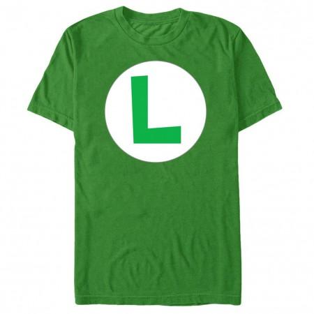 Nintendo Luigi Icon Green T-Shirt