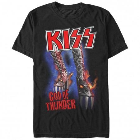 KISS Boot Of Thunder Black T-Shirt