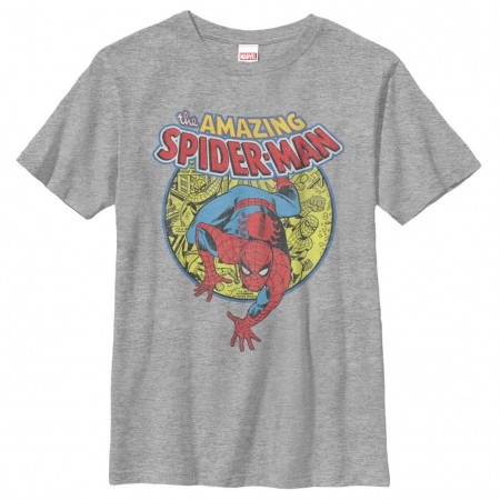 Spiderman Urban Hero Gray Youth T-Shirt