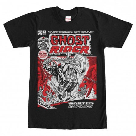 Ghost Rider Rider One Black Mens T-Shirt