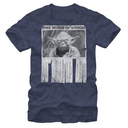 Star Wars Words of Wisdom Blue T-Shirt