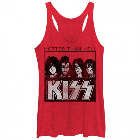 KISS Hotter Than Hell Red Juniors Racerback Tank Top