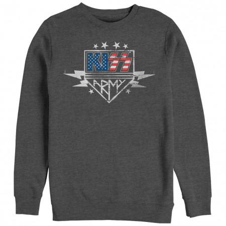 KISS Army Stencil Gray Long Sleeve T-Shirt