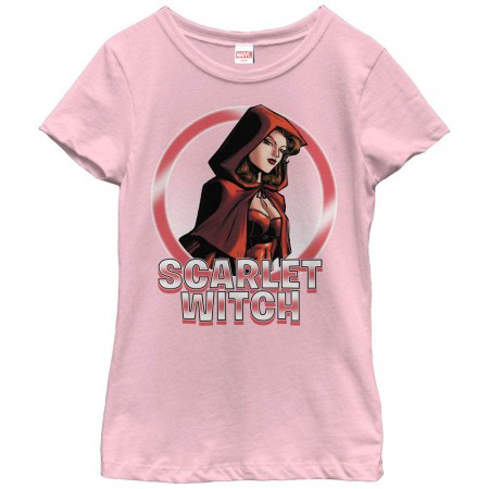 Marvel Teams Scarlet Circles Pink Youth T-Shirt