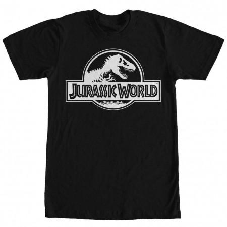 Jurassic World Simple Logo Black T-Shirt