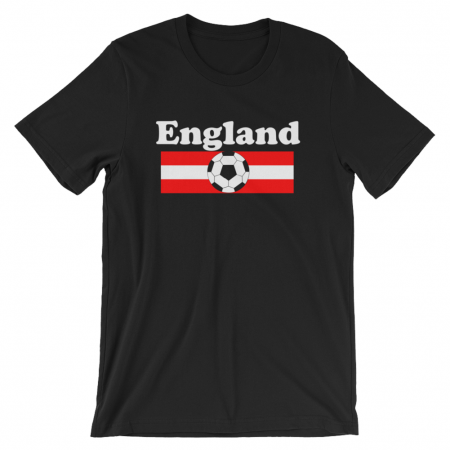 World Cup Soccer England Black Tshirt