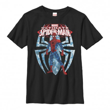 Spiderman Ultimate Spiders Black Youth T-Shirt