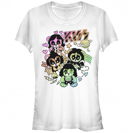 KISS Bears White T-Shirt