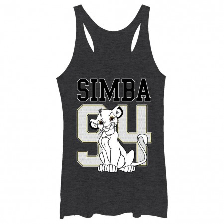 Disney Lion King Simba 94 Black Juniors Racerback Tank Top