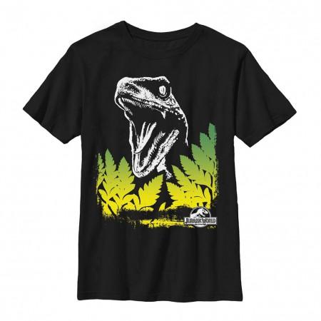 Jurassic World Surprise Raptor Black Youth T-Shirt