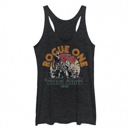 Star Wars Rogue One Rogue One Black Juniors Racerback Tank Top