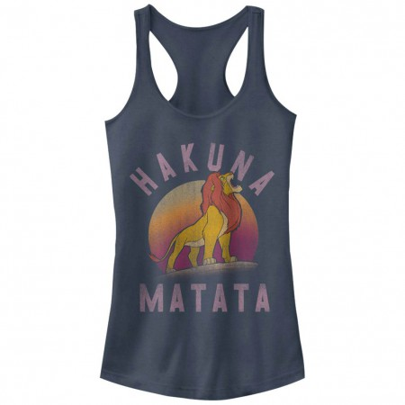 Disney Lion King Warrior Blue Juniors Racerback Tank Top