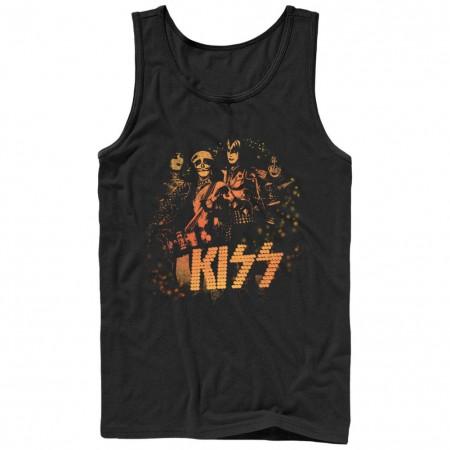KISS In Lights Black Tank Top