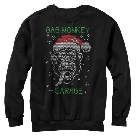 Gas Monkey Garage Knit Monkey Black Long Sleeve T-Shirt