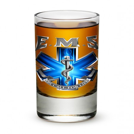 EMS On Call For Life Shot Glass