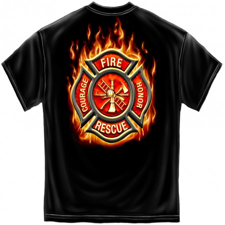 Courage Honor Rescue Firefighter Tee Shirt