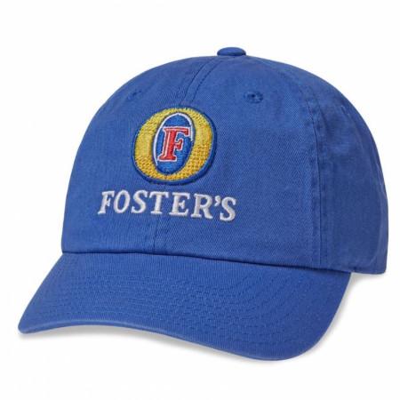 Foster's Beer Logo Blue Adjustable Ballpark Hat