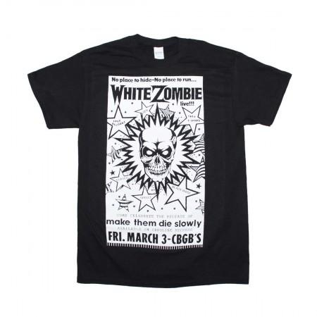 White Zombie CBGB Poster T-Shirt