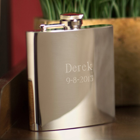 Personalized 7 Ounce Custom Stainless Steel Flask