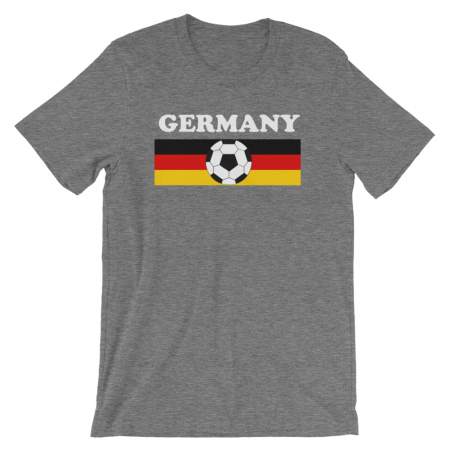 World Cup Soccer Germany Men's Grey T-Shirt
