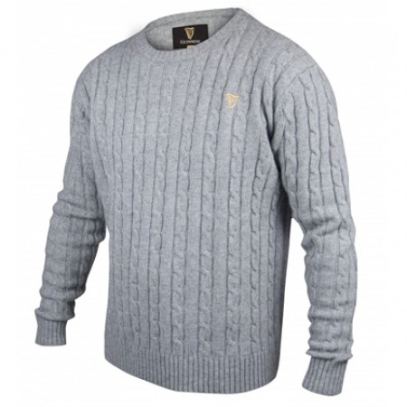 Guinness Cotton Cashmere Cable Knit Sweater