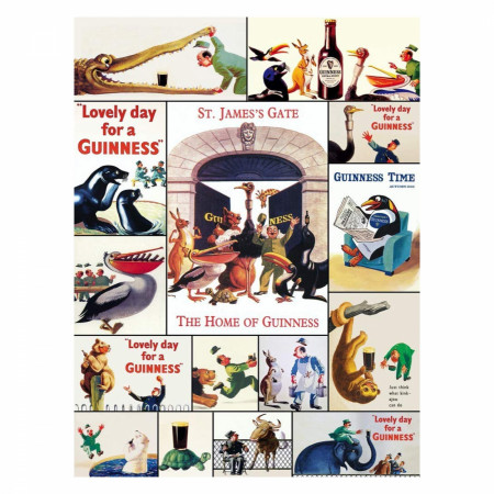 Guinness Beer Vintage Posters 1000 Piece Puzzle