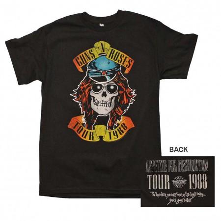 Guns n Roses Appetite Tour 1988 T-Shirt