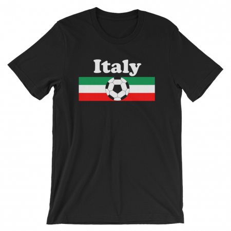 World Cup Soccer Italy Black Tshirt