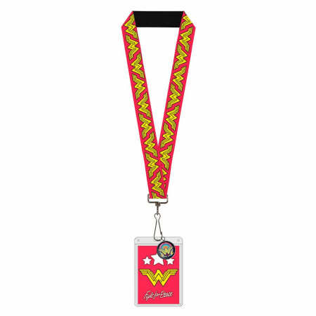 Wonder Woman Logos Lanyard
