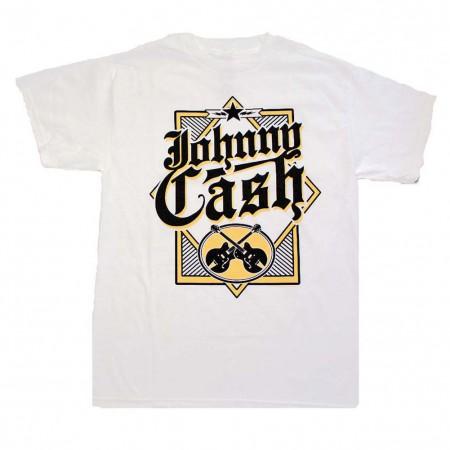 Johnny Cash Diamond White Guitars T-Shirt