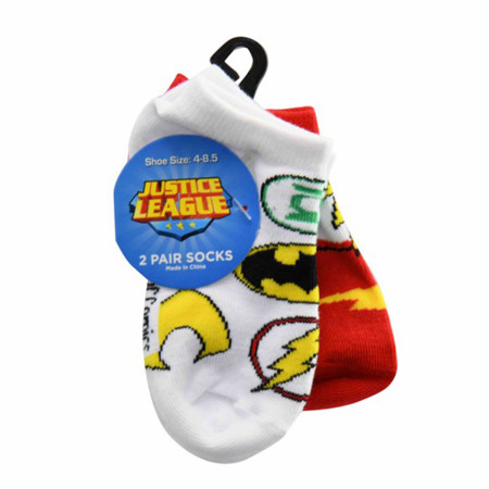 Justice League Toddlers 2-Pack Socks