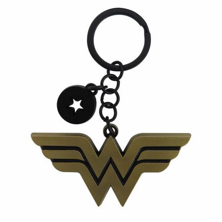 Wonder Woman Symbol Keychain with Charm