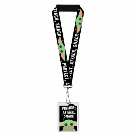 "Star Wars The Mandalorian ""The Child"" Snack Attack Protect Lanyard"