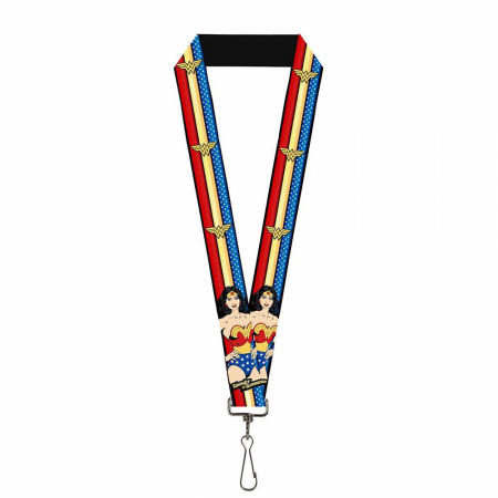 Wonder Woman Striped Lanyard