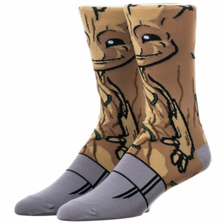 Guardians of the Galaxy Teen Groot 360 Character Crew Sock