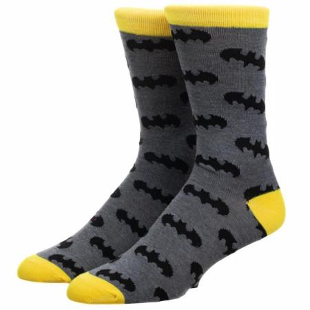 Batman Logo All Over Print Crew Sock